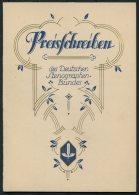 1931 Germany Dresden Deutscher Stenographen Preisschreiben , Deutschen Stenographenbundes Certificate - Diploma & School Reports
