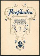 1932 Germany Dresden Deutscher Stenographen Preisschreiben , Deutschen Stenographenbundes Certificate - Diploma & School Reports