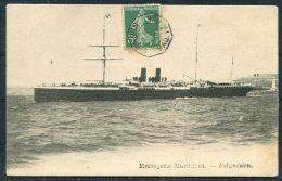 1908 France Messangerie Maritimes Ship Postcard POLYNESIEN, Ligne Paquebot Marseille - Yokohama Japan - Covers & Documents