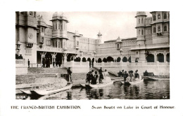 EXHIBITION - 1908 FRANCO BRITISH - SWAN BOATS ON LAKE IN COURT OF HONOUR RP Ex31 - Exhibitions