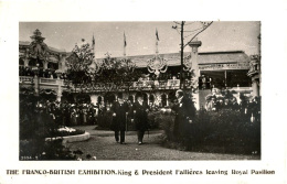 EXHIBITION - 1908 FRANCO BRITISH - KING AND PRESIDENT FALLIERES LEAVING ROYAL PAVILION RP Ex33 - Exhibitions