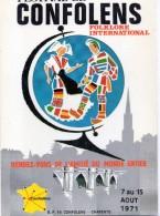 16 - CONFOLENS - Festival Folklorique - Carte Publicitaire De 1971 - Confolens