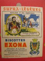 Buvard Biscottes Exona. Essonnes. Napoléon Et Ses Maréchaux. Maréchal Masséna. Vers 1950 - Biscottes
