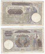 Serbia 100 Dinara 1941 Pick 23 Ref 854 - Serbia