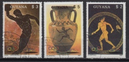 GUYANA 1769 FA-FC (0) –olympiade Seoul & Barcelona  – Art Grèce (1987) - Guyane (1966-...)