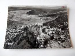 Carte Postale Ancienne : CORCONNE (Gard) : Vue Aérienne, Le Chateau Et La Plaine, En 1959 - Francia