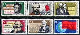 DDR - Michel 2783 / 2788 - ** Postfrisch (E) - Karl Marx - Ongebruikt