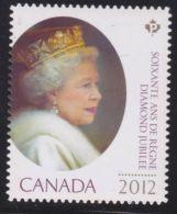 CANADA. 2012, MNH   #2519i   QUEEN ELIZABETH DIAMOND JUBILEE     DIE CUT STAMP - Single Stamps