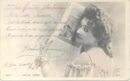MENSAJE CON CIERTO EROTISMO DEL HISTORIADOR Y POLITICO GABRIEL CARRASCO EN 1904 ENVIADO A LA ARISTOCRATA  CARMEN ABENTE - Autographes