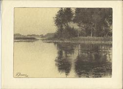 Vijver In Vlaanderen/Etang En Flandre - François Goossens (1917) (originele Lithografie/Lithographie Originale) - Lithographies