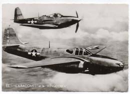"""Avion De Guerre- """" L'AIRACOMET Et Le KINGCOBRA  """" ,cpsm 15 X 10 N° 15  éd  Superluxe.......à Saisir - Avions"""