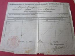 1904 EGUHEIM Alsace, Oderen/Elsass, Odern-décompte Définitif Du Bureau D´assurance D´A-L/Landes Versicherungsanstalt E-L - Documents Historiques
