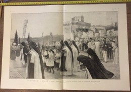 DOCUMENT ANNEES 1900 LES COUVENTS QUI SE FERMENT MONASTERE FORT SAINT ANDRE VILLENEUVE LEZ AVIGNON - Collections