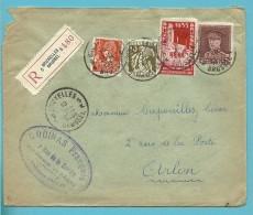 321+336+337+387 Op Brief Aangetekend Met Stempel BRUXELLES 5 - 1931-1934 Képi