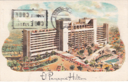 El Panama Hilton - Hotel - Written - Stamp & Postmark 1985 - Illustration - 2 Scans - Panama