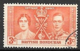 1937 Coronation, 3 Cents Used - British Honduras (...-1970)