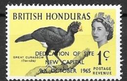 1966 Dedication Of New Capital Overprint, 1 Cent, Mint Light Hinged - British Honduras (...-1970)