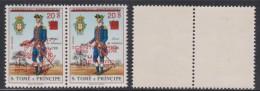 SÃO TOMÉ E PRINCIPE 1977 CENTENÁRIO CENTENAIRE  CENTENARY   UPU  SOBRECARGA TIPO II  SURCHARGE TYPE II OVERPRINT TYPE II - Sao Tome Et Principe