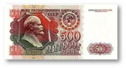 RUSSIA - 500 Rubles - 1992 - Pick 249 - Serie ВЯ - Unc. - U.S.S.R. - Lenin / Kremlin - 2 Scans - Russia