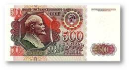 RUSSIA - 500 Rubles - 1992 - Pick 249 - Serie ВЕ - Unc. - U.S.S.R. - Lenin / Kremlin - 2 Scans - Russia