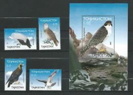 Tajikistan Stamp 2000. Birds Of Prey, 4v + S/s, Mint/**MNH - Tadjikistan