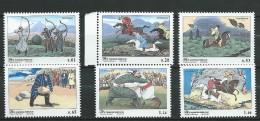 Tajikistan 2002 Mih. 248/53 Traditional Sport Games MNH - Tadjikistan