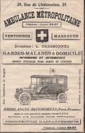 PARIS 9e - PUB AMBULANCE AUTOMOBILE - Publicités