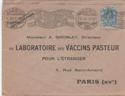 LETTRE ESPAGNE MADRID 15/4/1921 POUR PARIS FRANCE LABORATOIRE VACCINS PASTEUR - Pharmacy