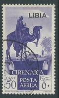 1936 LIBIA POSTA AEREA USATO SOGGETTI AFRICANI 50 CENT - P15-8 - Libya