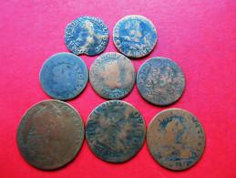 FRANKREICH Feudal LOT 8 Stück !!! 8 Verschiedene !!! - 476-1789 Lehnsperiode