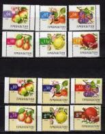 Tajikistan 2005 Fruits.12 V.full Serial.apple.pear, Plum,apricots,pomegranate,apple Quince.MNH - Tajikistan