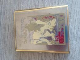 Sigaretten Sigaren Doos Boite  Art Nouveau Mucha? Exposition Salon Plume Paris Femme Nus - Fume-Cigarettes