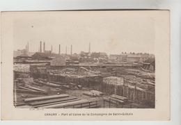 CPSM CHAUNY (Aisne) - Port Et Usine De La Compagnie De Saint Gobain - Chauny