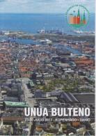 Esperanto 1st Bulletin Congress 2011 Copenhagen - Unua Bulteno Universala Kongreso 2011 Kopenhago - Oude Boeken