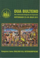 Esperanto 2nd Bulletin Congress 2011 Copenhagen - Dua Bulteno Universala Kongresa 2011 Kopenhago - Boeken, Tijdschriften, Stripverhalen