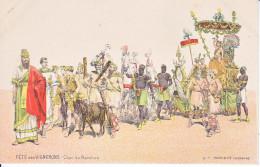 FETE DES VIGNERONS - VEVEY -1905 - ILLUSTRATION - CHAR DE BACCHUS - N/C -DOS UNIQUE - TB - VD Vaud