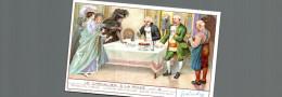 Cromo Liebig  LE CHEVALIER A LA ROSE CUISINE DELICIEUSE SAINE ET ECONOMIQUE - Liebig