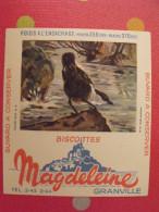 Buvard Biscottes Magdeleine. Granville. Oiseau Cincle Aquatique. Vers 1950 - Zwieback