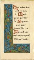 V52 /   HOLY CARD IMAGE PIEUSE QUE VOTRE AME SOIT EN MOI .. 12 X 6.8 Cm - Devotieprenten