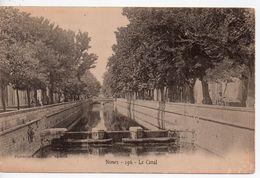 CPA.30.Nimes.Le Canal.Animé Personnages. - Nîmes