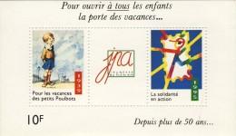 BLOC VIGNETTES 1995 POUR VACANCES DES ENFANTS # POULBOTS # JEUNESSE PLEIN AIR # 10F - Blocks & Sheetlets & Booklets