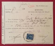 MODULISTICA REGNO MOD.99 Ed. 1932 Annullo CASSIERE POSTALE SU MARCA DA BOLLO IN DATA 31/12/1937 - Marcophilia