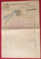 MODULISTICA REGNO MOD.141 Ed. 1911 SEQUESTRO BIGLIETTO DI BANCA DA L.50 POSTA MASSA CARRARA 23/9/12 - Marcophilia