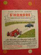 Buvard Biscottes St Honoré Vauréal Donville Suresnes. Course Automobile. Vers 1950 - Biscottes