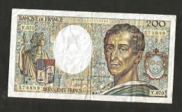 FRANCE - BANQUE DE FRANCE - 200 Francs MONTESQUIEU - (1989) - 1962-1997 ''Francs''