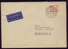 A4152) Berlin Luftpostbrief Von Berlin-Charlottenburg 2.4.55 Mit EF Mi.50 - Briefe U. Dokumente