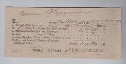 Heimat Polen GROSSSTRELITZ 1837-10-28 Postschein - Pologne