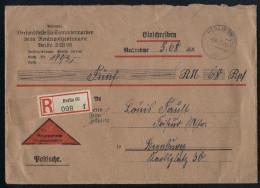 A4155) DR R-Nachnahme-Brief Von Versandstelle F. Sammlermarken Berlin SW68 Vfs 6.3.41 - Briefe U. Dokumente