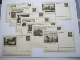 HINDENBURG  , Bildganzsache, 9 Bessere Karten  , Alle Unverschickt - Ganzsachen