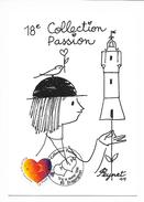 Peynet - Collection Passion - Draguignan 13/14 Février 1999 - Avec Timbre Et Cachet Du Salon - Peynet
